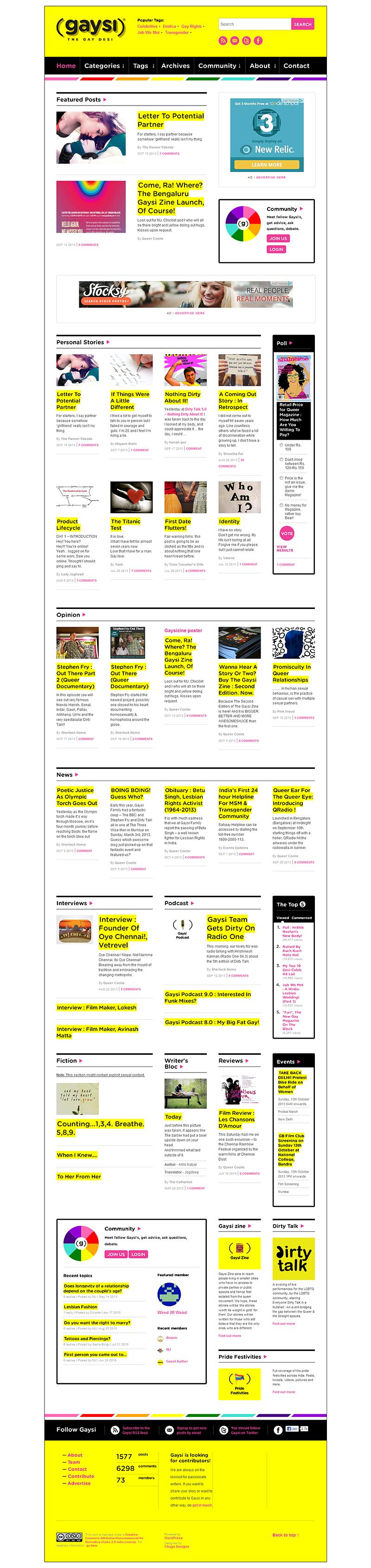 GaysiFamily Website screenshot